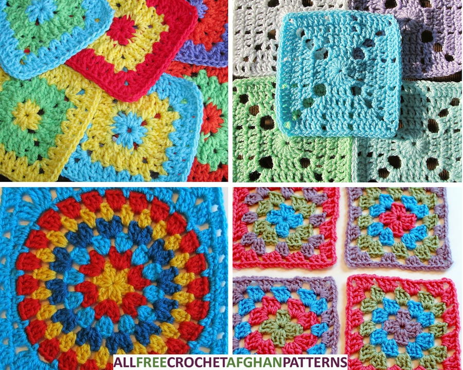 Crochet Easy Granny Square Patterns : AllFreeCrochetAfghanPatterns.com - Free Crochet Afghan ...
