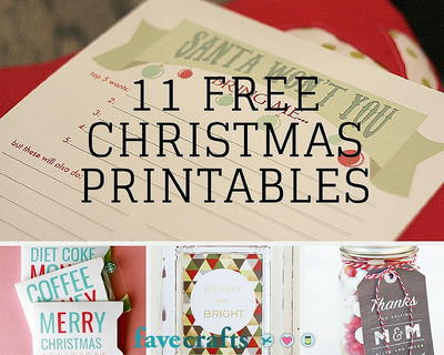 11 Free Christmas Printables You Need