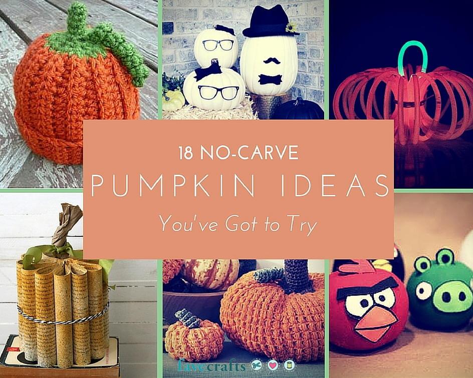 18 No Carve Pumpkin Ideas You Ve Got To Try Favecrafts Com