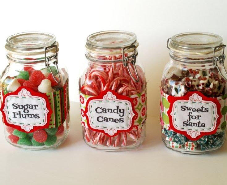 Christmas Candy Jar Labels Allfreechristmascrafts Com