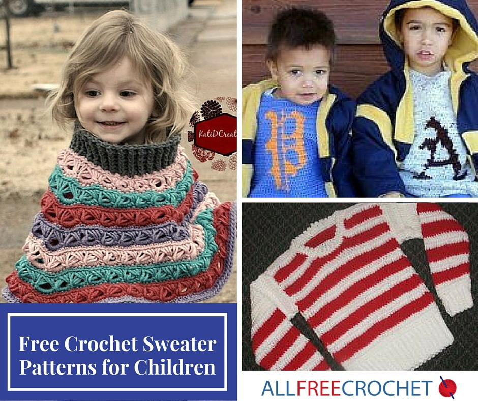 15 Free Crochet Sweater Patterns For Children Allfreecrochet
