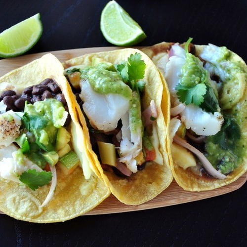 Baja fish tacos with creamy cilantro lime slaw recipe for Simple fish taco recipe