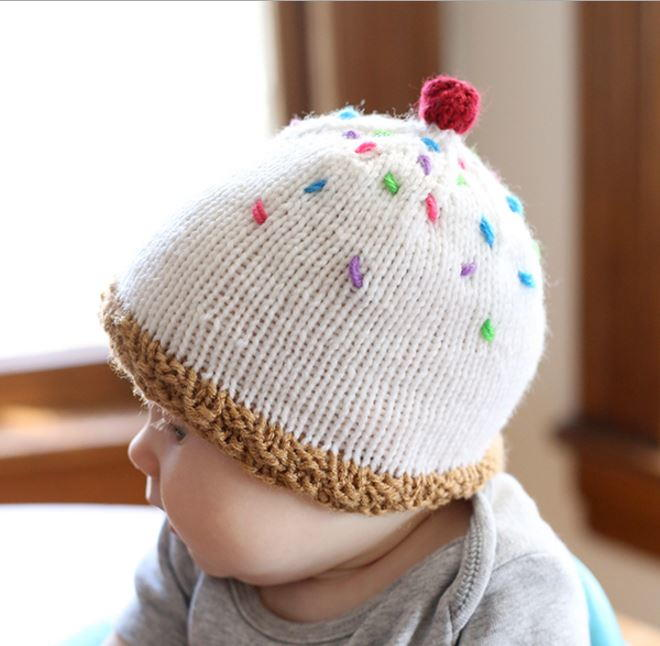 Ice Cream Baby Hat Allfreeknitting Com