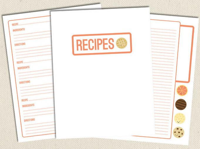 photo relating to Free Printable Recipe Binder titled Cute Totally free Printable Recipe Webpages