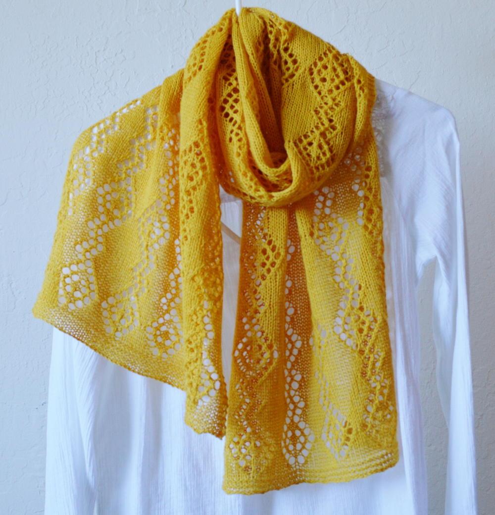 Lemon Lace Shawl Pattern Allfreeknitting Com