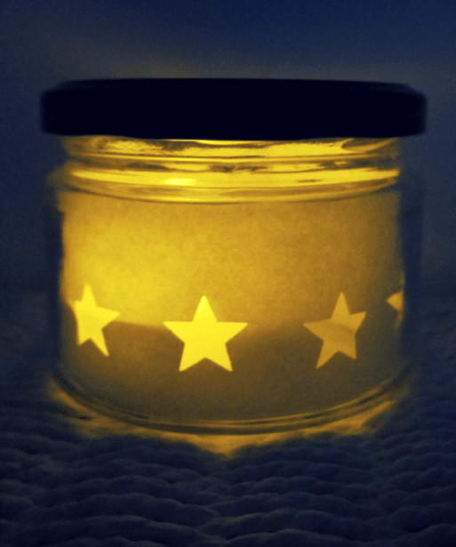 christmas star diy luminaries