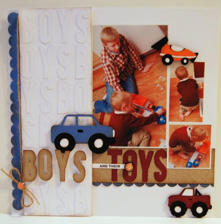 Boys Toys For All : Scrapbooking layouts of our favorite scrapbook page