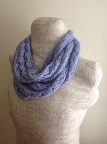 Lavender Lace Infinity Scarf Allfreeknitting Com