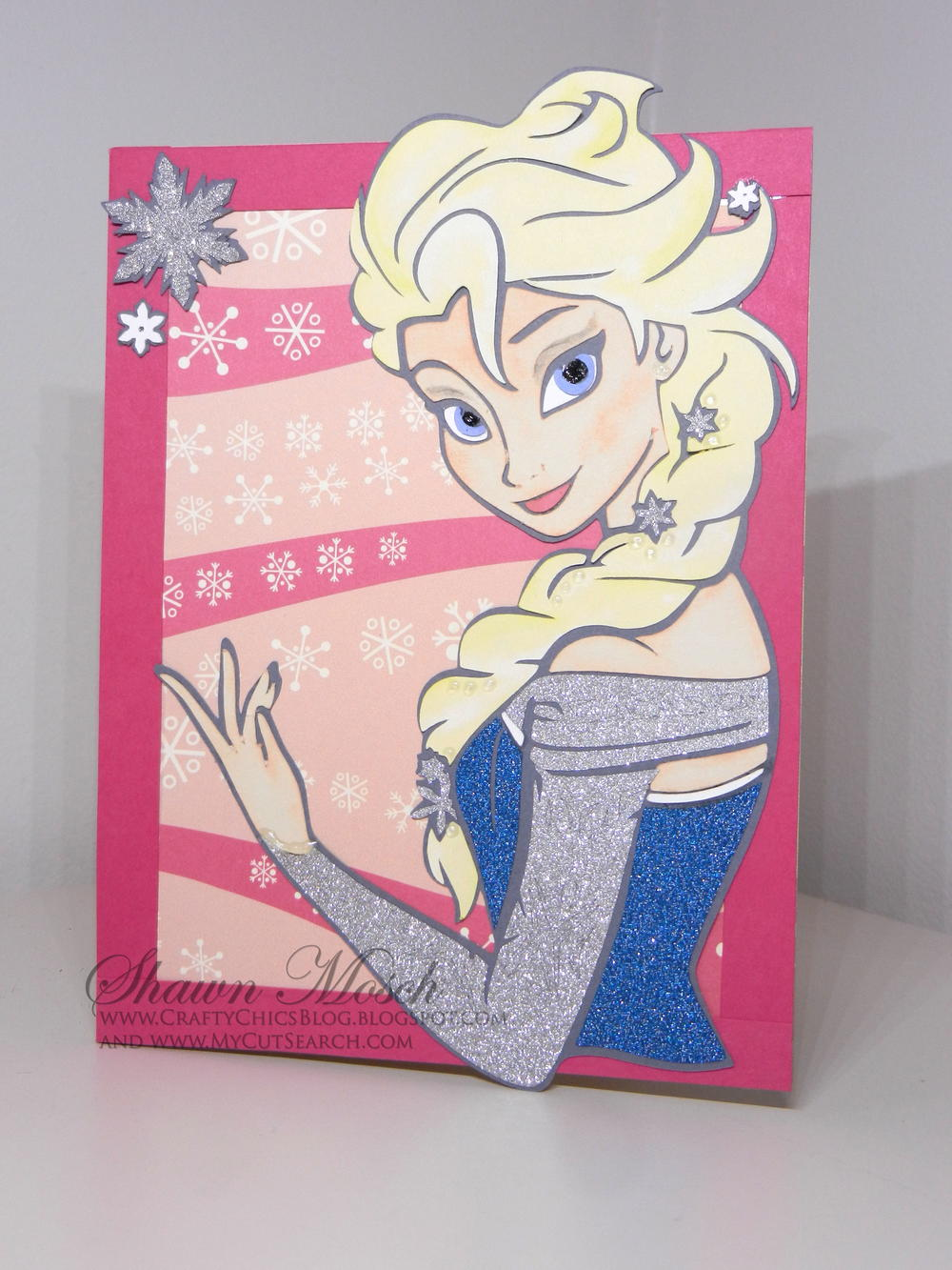 Elsa-Inspired DIY Birthday Card | AllFreePaperCrafts.com