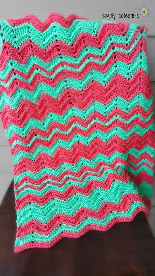 Chevron Flare Crochet Blanket Favecraftscom