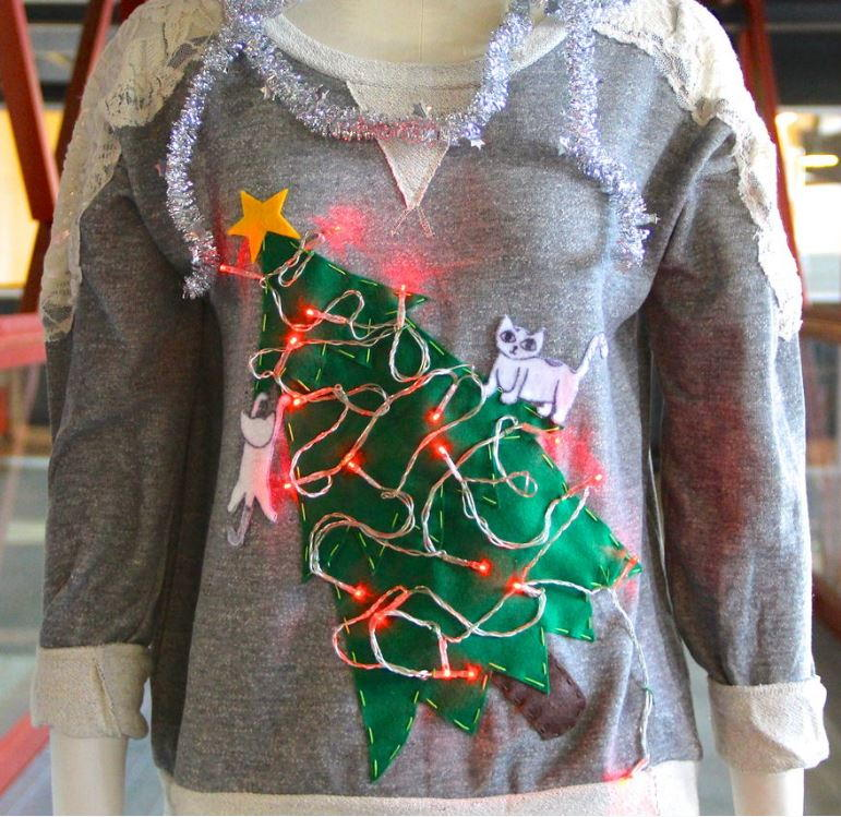 """Cat Lady"" DIY Ugly Christmas Sweater ..."
