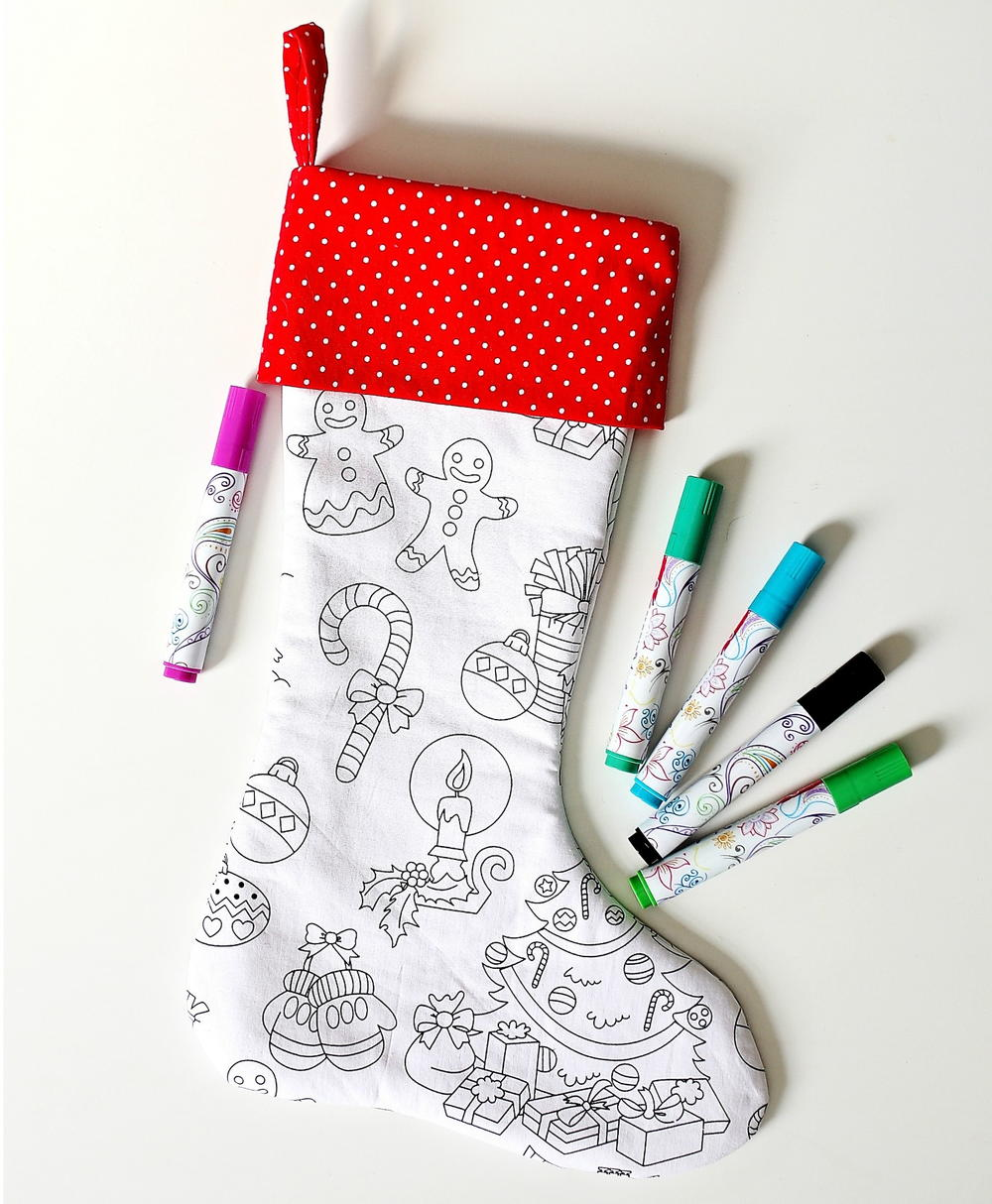 Color Me Christmas Stocking Pattern | AllFreeSewing.com