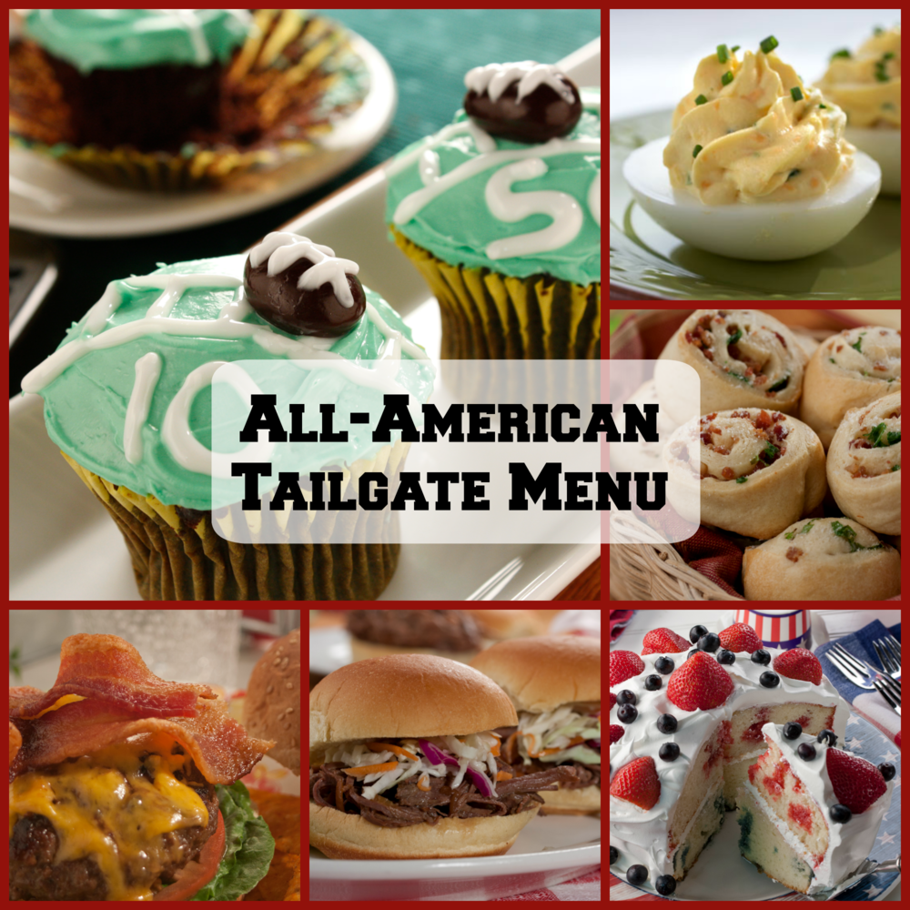 All american tailgate menu for All american cuisine