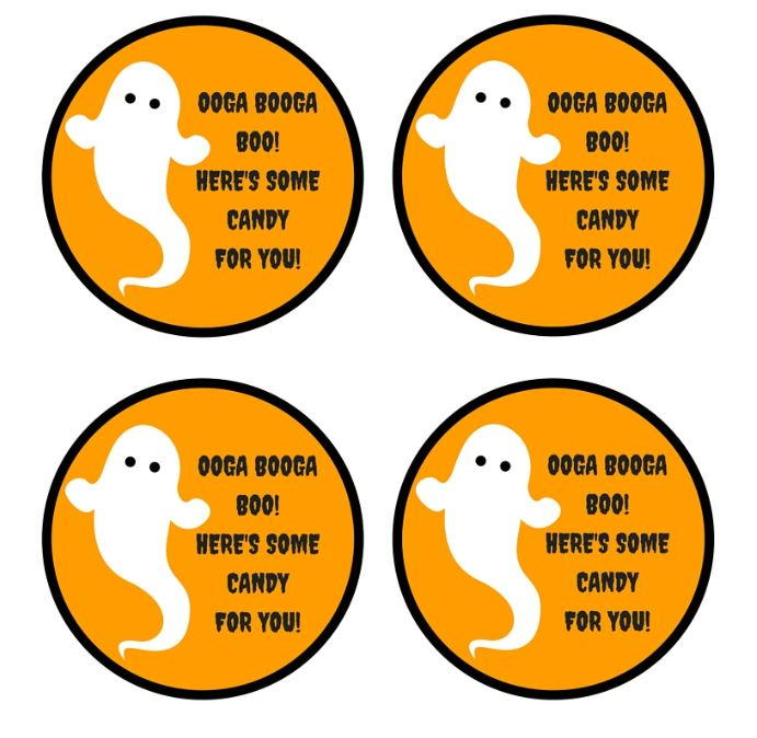 photo relating to Free Printable Halloween Tags named Free of charge Printable Ghost Sweet Tags