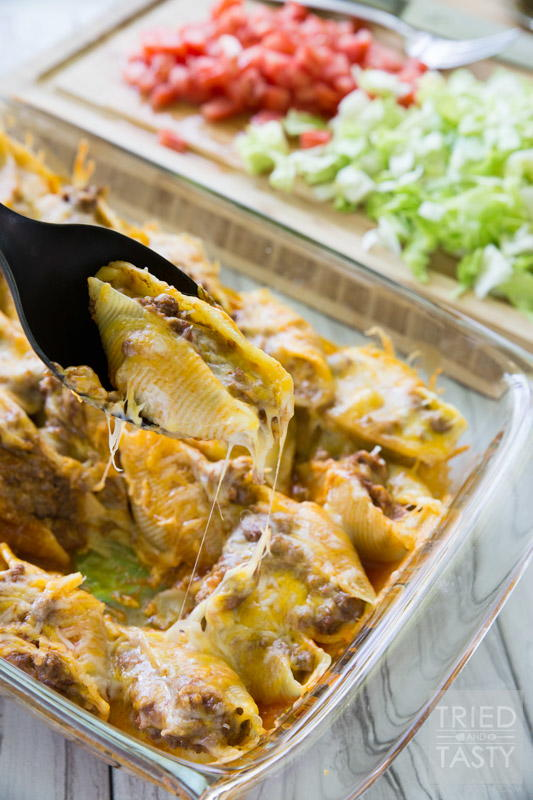 Taco Stuffed Shells | RecipeLion.com