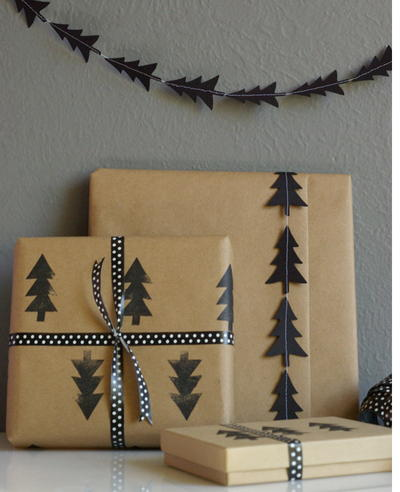 Mod Tree DIY Wrapping Paper