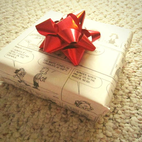 How to Wrap a Gift with Newspaper