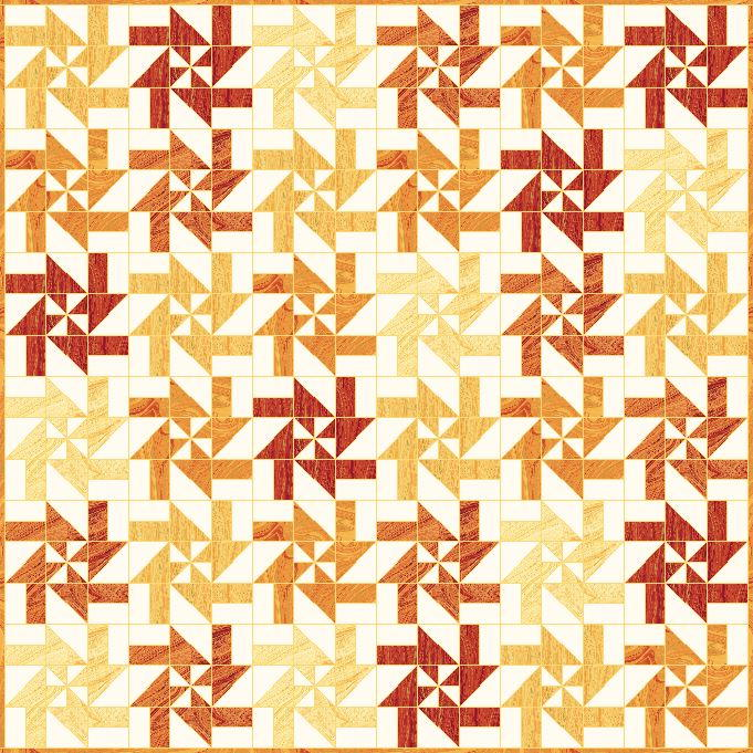 Sunburst Disappearing Pinwheel Pattern Favequilts Com
