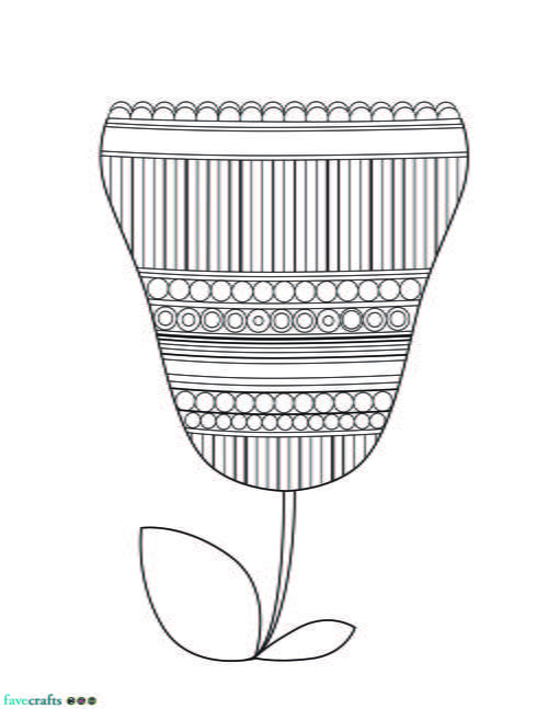 jumbo coloring pages - jumbo tulip adult coloring page