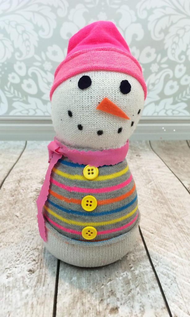 Adorable Snowman Sock Craft | FaveCrafts.com