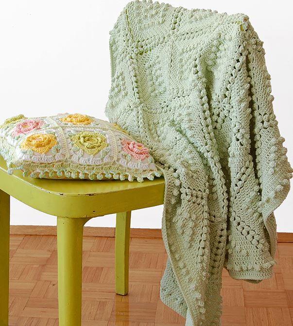 Vintage Popcorn Stitch Blanket