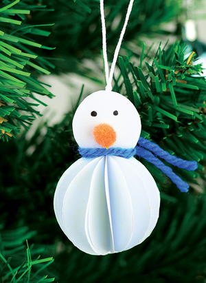 Paper Snowman DIY Ornaments