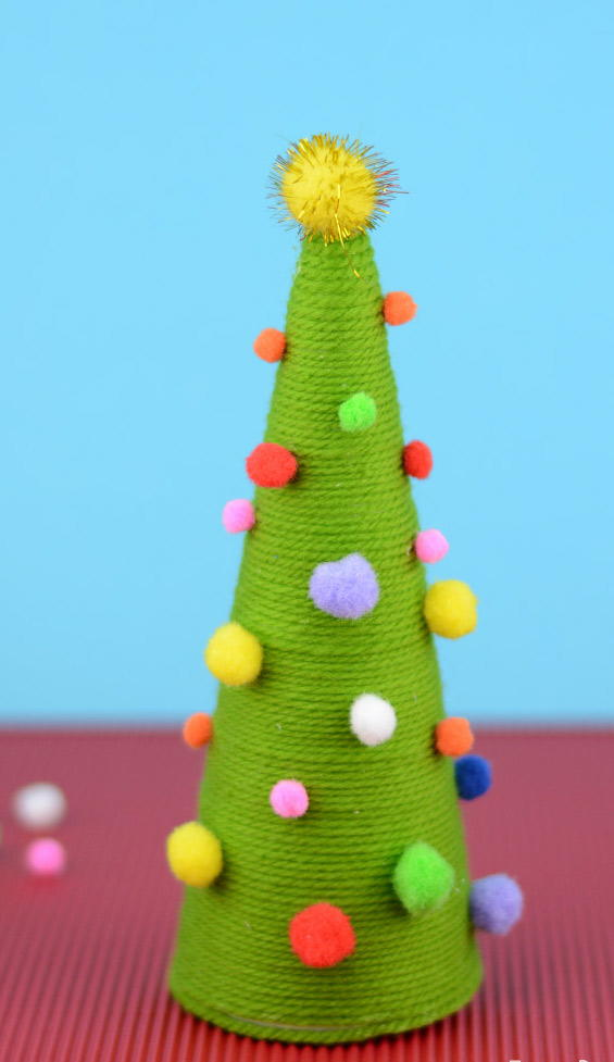 Pom Pom Diy Christmas Tree Favecrafts Com