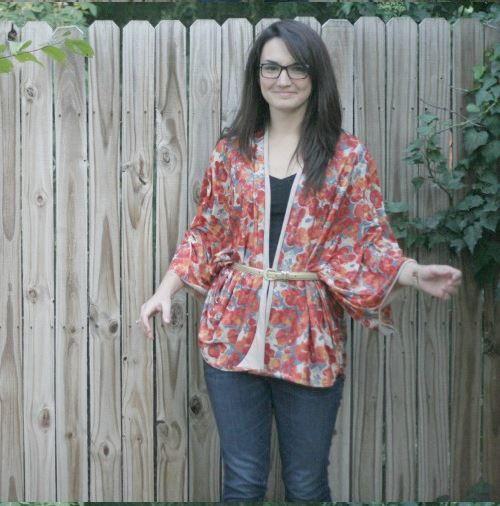 One Yard Kimono Top Tutorial Allfreesewing Com