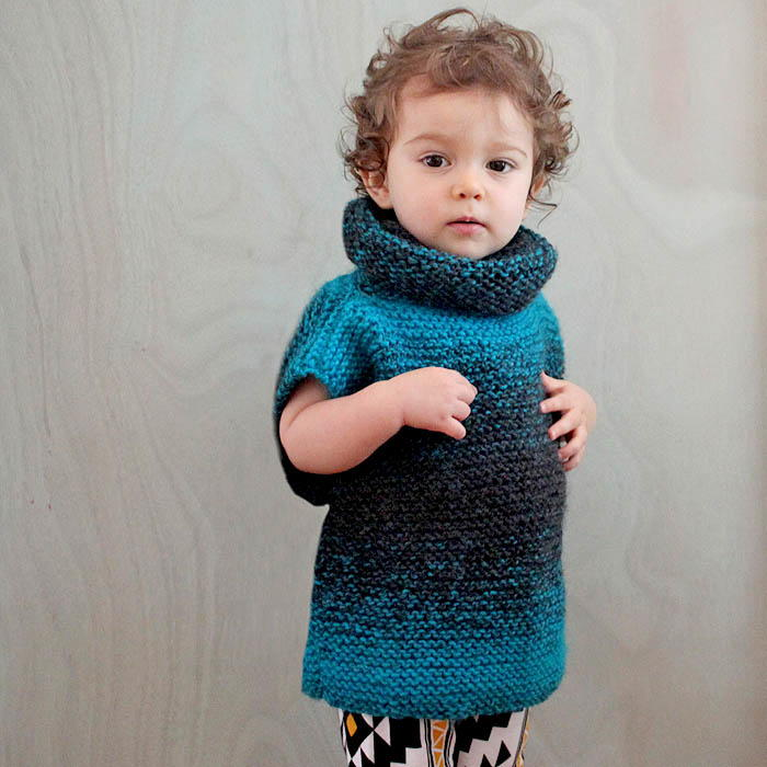 Easy Knitting Pattern For Sweater : 3-Square Knit Childs Sweater AllFreeKnitting.com