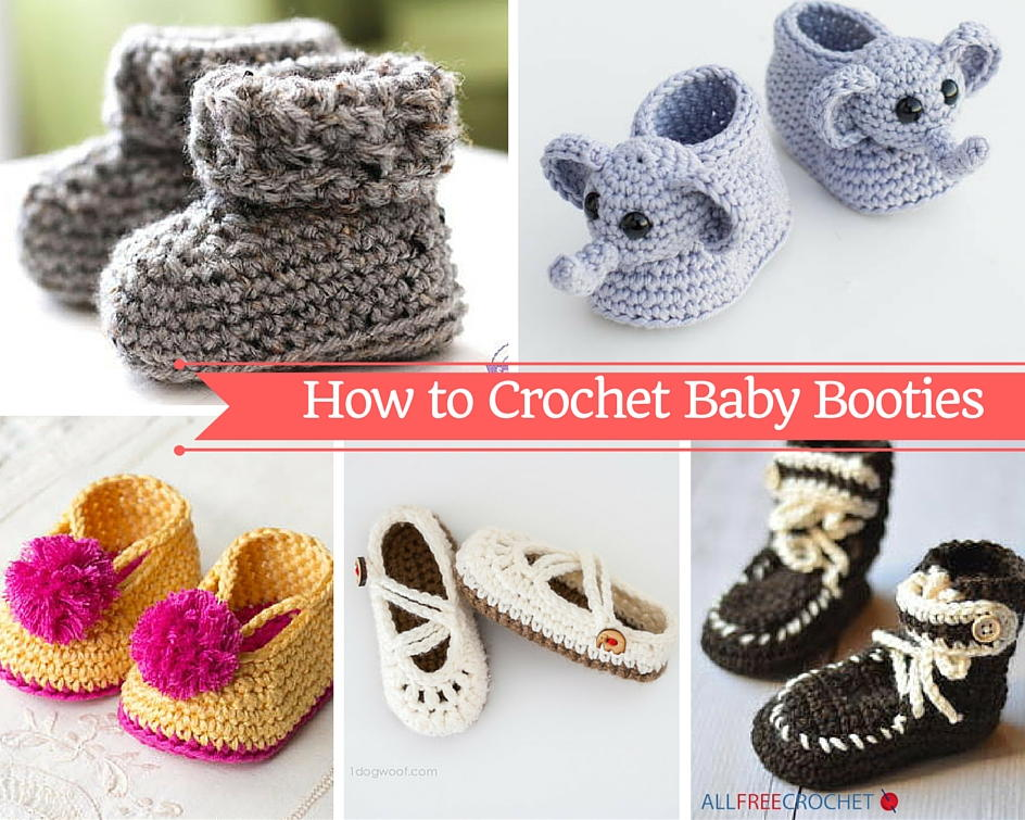 34868c5388868 How to Crochet Baby Booties with 51 Patterns | AllFreeCrochet.com
