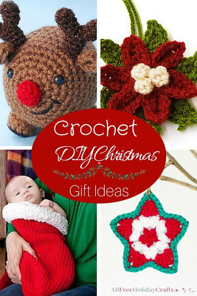 Free Crochet Patterns For Xmas Gifts : 14 Crochet DIY Christmas Gift Ideas AllFreeHolidayCrafts.com