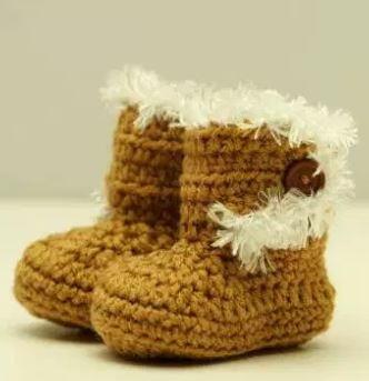 f177d588369 How to Crochet Baby Booties Just Like Ugg | AllFreeCrochet.com
