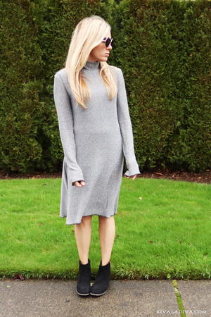 Sweater Weather Knit Dress Tutorial