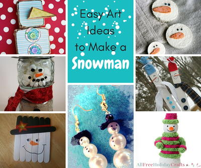 Easy Art Ideas to Make a Snowman