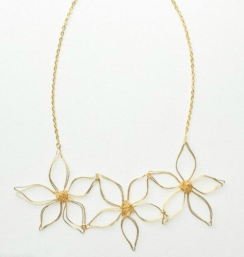 Anthropologie Knockoff Daisy Chain Necklace