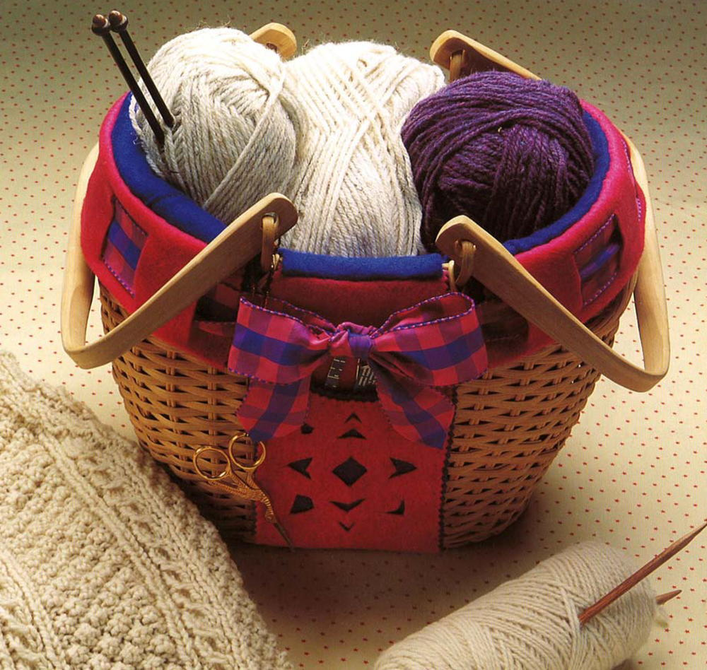 Cozy Knitting Basket Pattern Allfreesewing Com