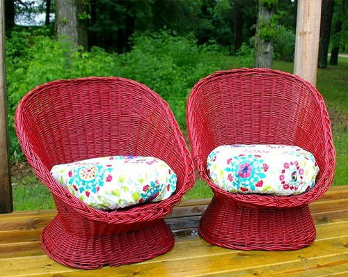 wicker chair paint makeover