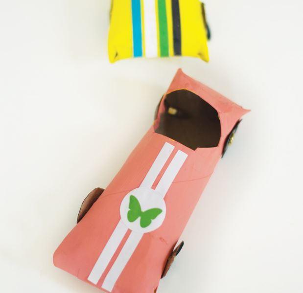 Race Car Toilet Paper Roll Crafts Allfreepapercrafts Com