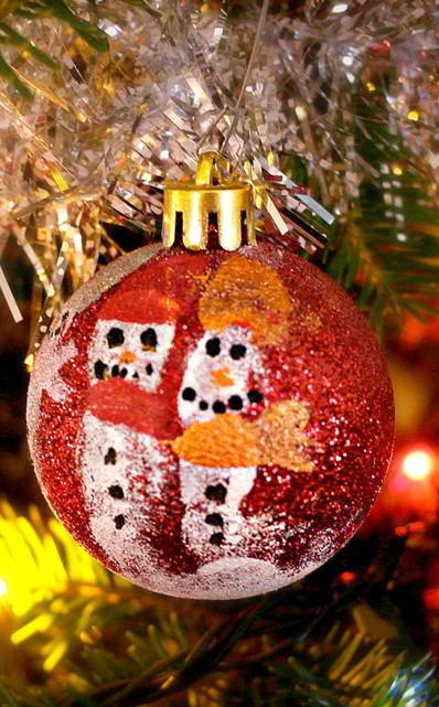Fingerprint Snowman Diy Ornaments Favecrafts Com