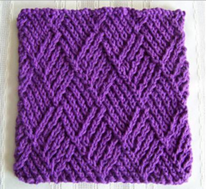 Diamond Twist Stitch Dishcloth | AllFreeKnitting.com