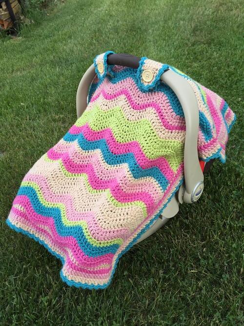 Crochet Ripple Car Seat Cover Allfreecrochet Com