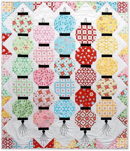 Happy Glow Japanese Lantern Quilt Favequilts Com