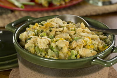 Creamy Corn Broccoli Bake