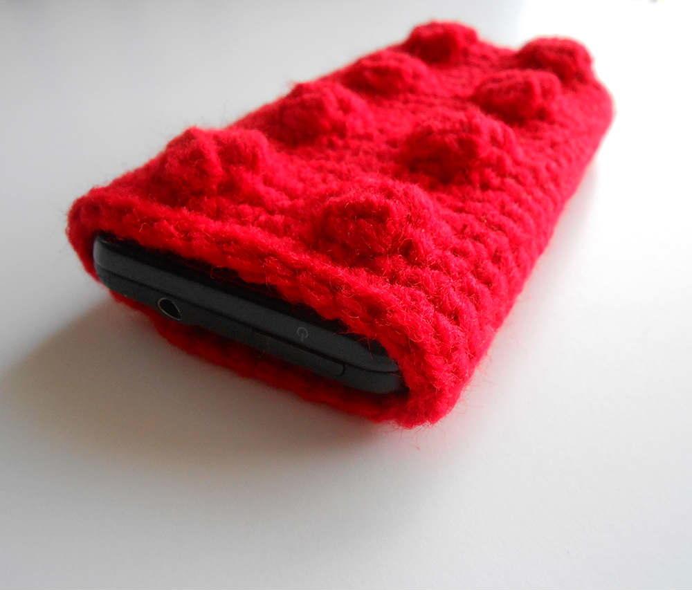 Crochet Lego Phone Case AllFreeCrochet.com