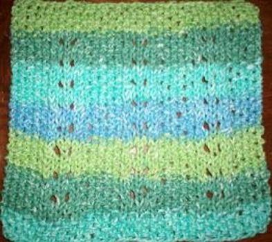 Diagonal Knit Dishcloth Pattern Allfreeknitting