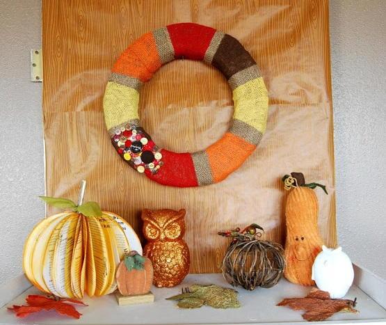 Adorable DIY Fall Wreath DIYIdeaCentercom