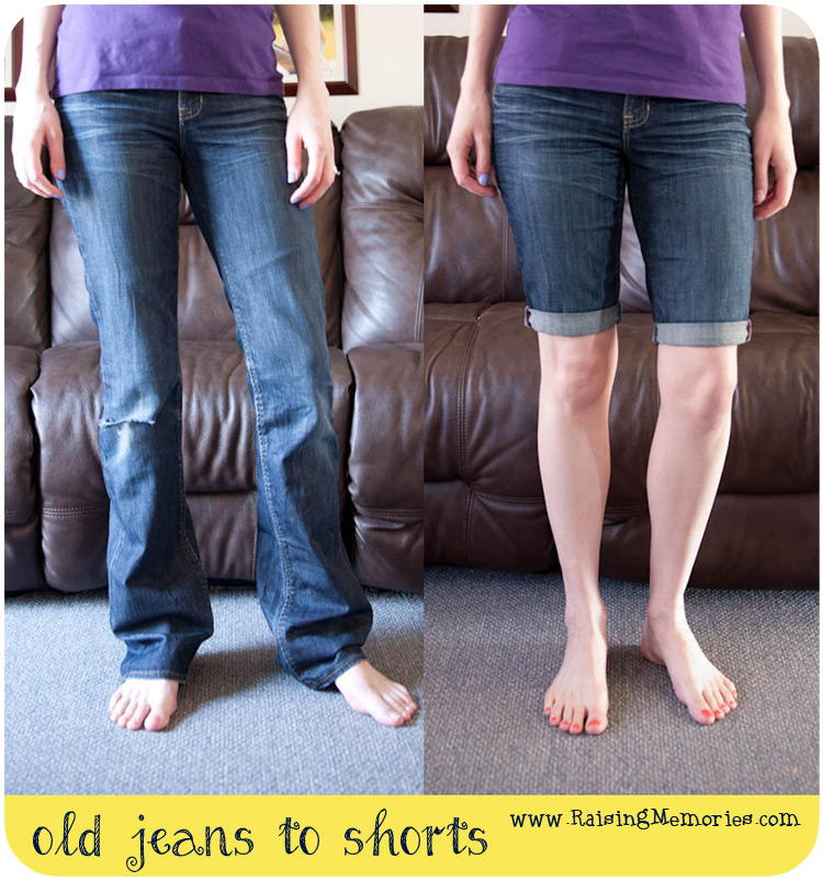 How To Turn Holey Jeans Into Shorts Allfreesewing Com