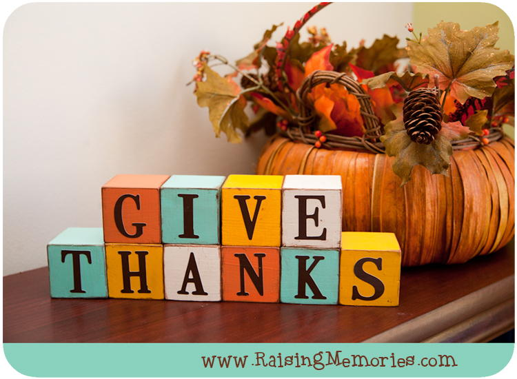 Decorative give thanks blocks for Large wooden blocks for crafts
