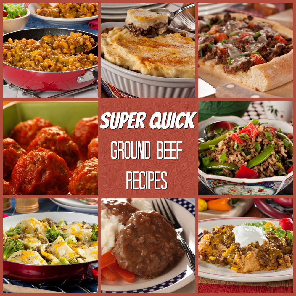8 More Delicious And Easy Ground Beef Dinner Ideas: Super Quick Ground Beef Recipes