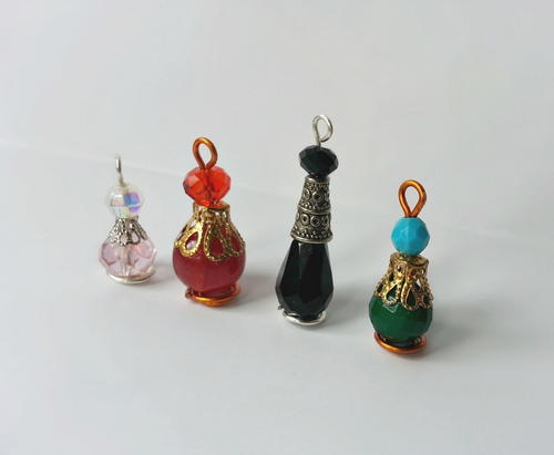 Beaded Potion Bottle Bracelet Charms